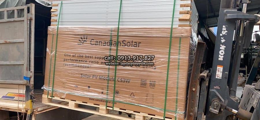 Pin Canadian Solar, pin Canadian chính hãng kho tại TPHCM