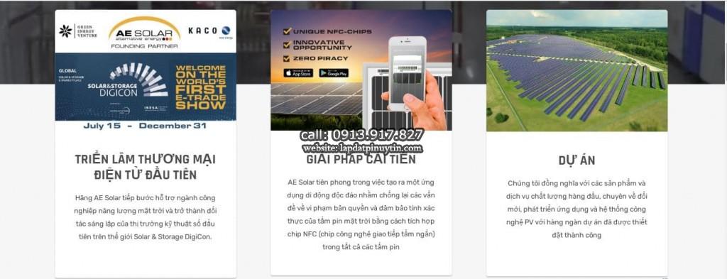 Pin AE Solar 450w nhập khẩu chính hãng AE Solar